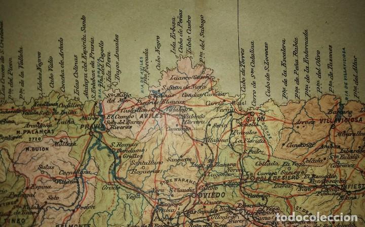 Mapas contemporáneos: OVIEDO provincia - Mapa antiguo 1910 con Paspartú biselado 42,5cm x 35cm - Foto 5 - 116862839