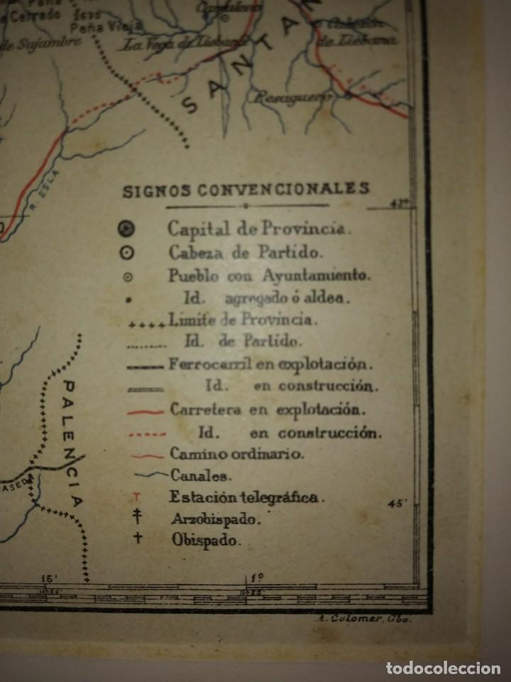 Mapas contemporáneos: OVIEDO provincia - Mapa antiguo 1910 con Paspartú biselado 42,5cm x 35cm - Foto 6 - 116862839