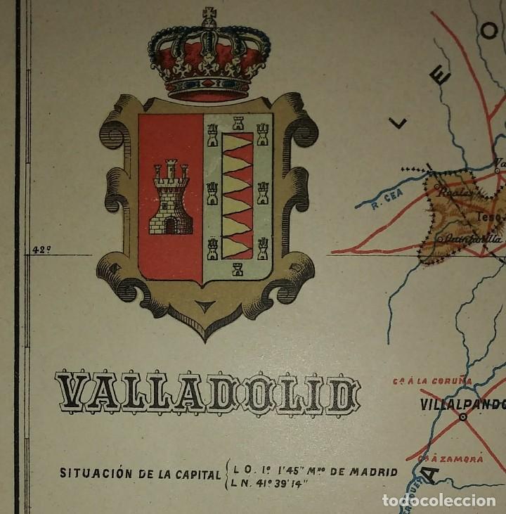 Mapas contemporáneos: VALLADOLID provincia - Mapa antiguo 1910 con Paspartú biselado 37,5 cm x 30,5 cm - Foto 6 - 116864143