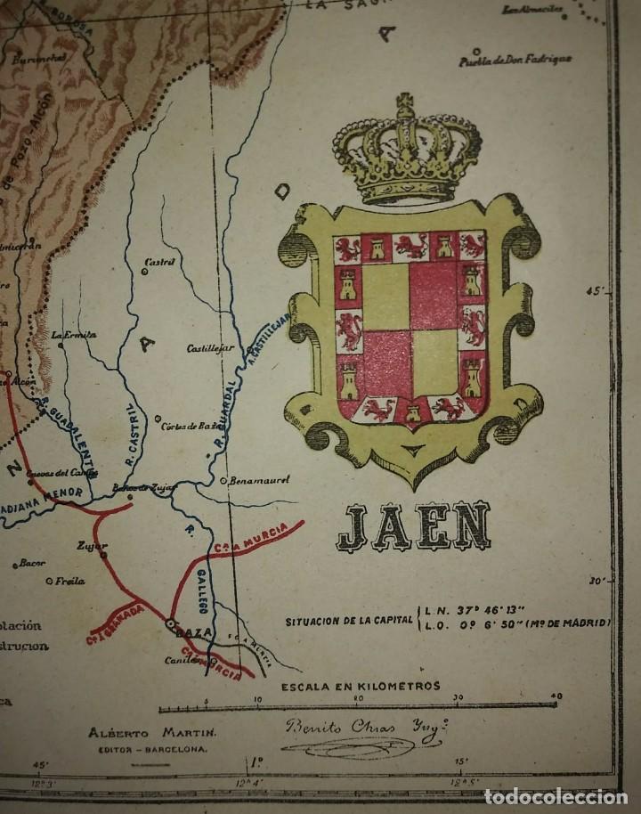 Mapas contemporáneos: JAÉN provincia - Mapa antiguo 1910 con Paspartú biselado 44 cm x 37,8 cm - Foto 3 - 116864607
