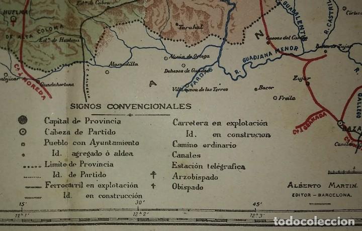 Mapas contemporáneos: JAÉN provincia - Mapa antiguo 1910 con Paspartú biselado 44 cm x 37,8 cm - Foto 5 - 116864607