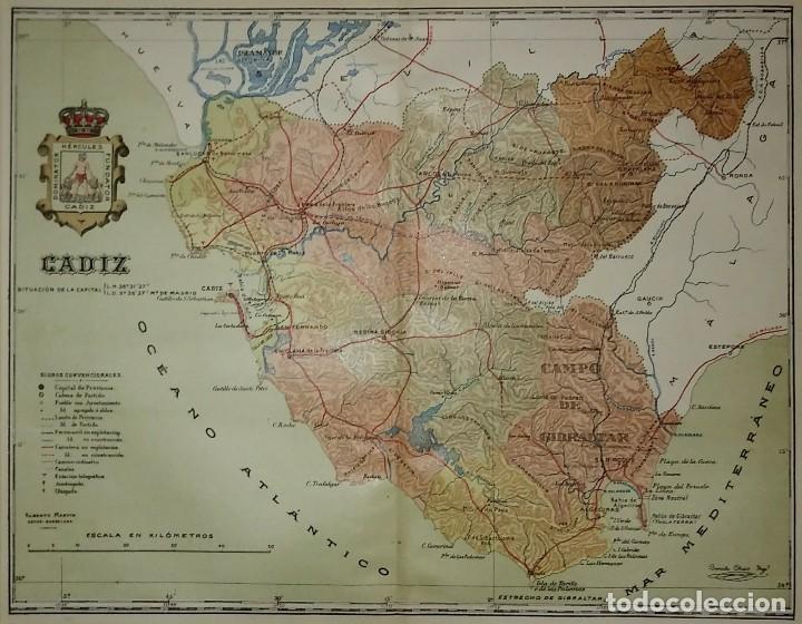 Mapas contemporáneos: Mapa antiguo de Cádiz. 1910 - Foto 3 - 116864763