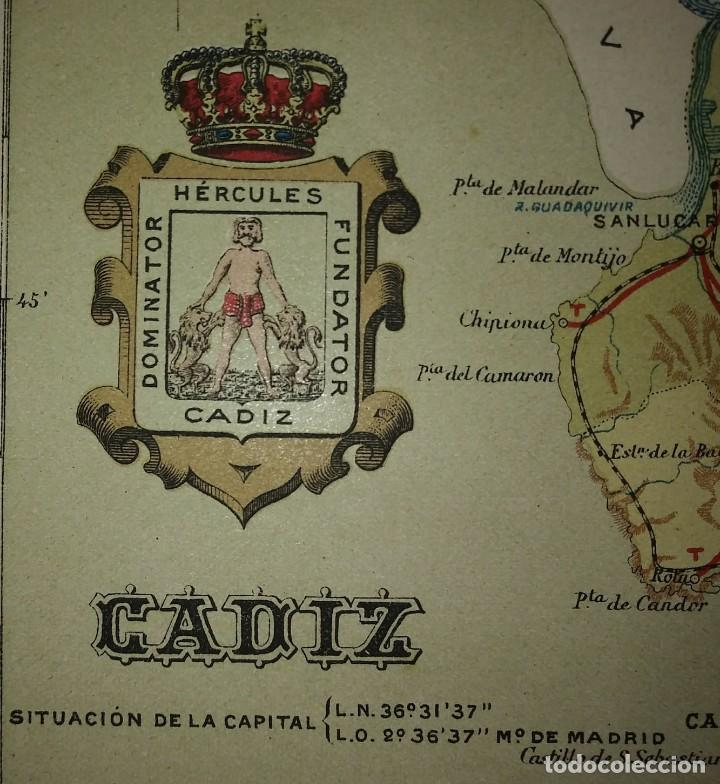 Mapas contemporáneos: Mapa antiguo de Cádiz. 1910 - Foto 6 - 116864763