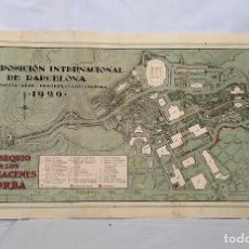 Mapas contemporáneos: MAPA, PLANO DE LA EXPOSICIÓN INTERNACIONAL DE BARCELONA 1929. OBSEQUIO DE ALMACENES JORBA. Lote 117039779