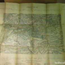 Mapas contemporáneos: CARTE - MAPA. FEUILLE XVII - 39. CERET. 1924. Lote 117202343