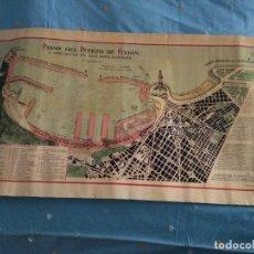 Mapas contemporáneos: PLANO DEL PUERTO DE GIJÓN Y PROYECTO DE SUS AMPLIACIONES 1929. Lote 194691207
