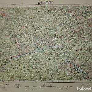 MAPA BLANES 1955 Dirección gnl. del inst. Geográfico y Catastral Servicio Geográfico del Ejército