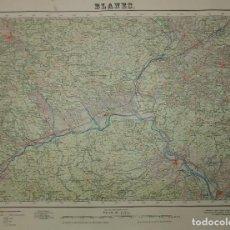 Mapas contemporáneos: MAPA BLANES 1955 DIRECCIÓN GNL. DEL INST. GEOGRÁFICO Y CATASTRAL SERVICIO GEOGRÁFICO DEL EJÉRCITO . Lote 117302571
