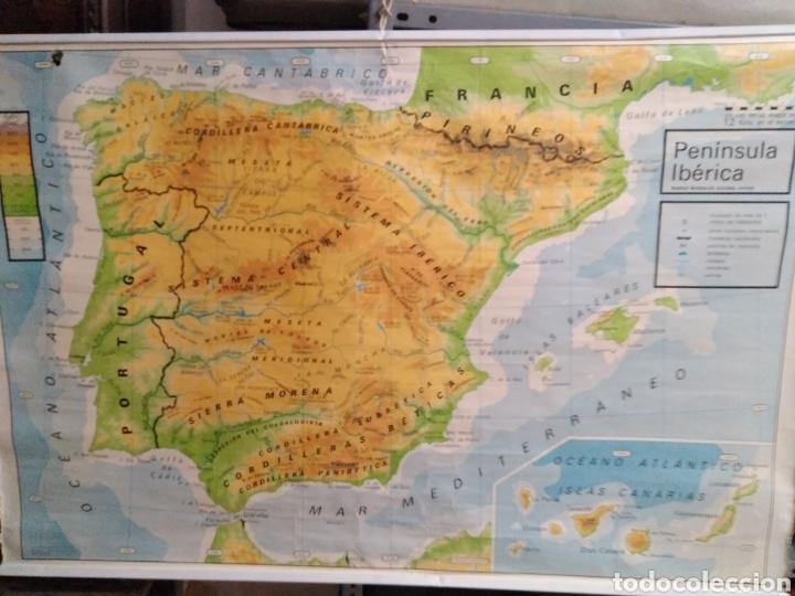 Mapa Fisico De España.Mapa Escolar Fisico Y Politico Espana Y Portugal