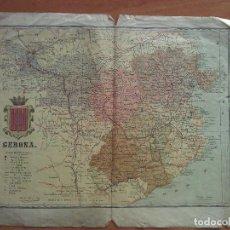 Mapas contemporáneos: ANTIGUO MAPA DE GERONA. Lote 117804555