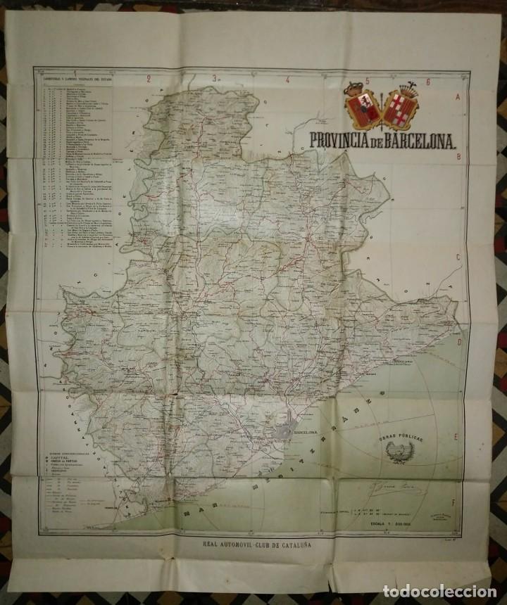MAPA PLANO PROVINCIA DE BARCELONA 68,7 X 82,5 REAL AUTOMÓVIL CLUB DE CATALUÑA OBRAS PÚBLICAS 82X68 (Coleccionismo - Mapas - Mapas actuales (desde siglo XIX))