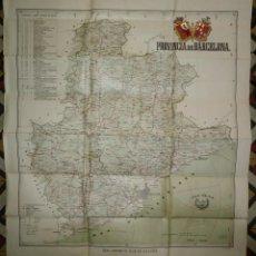 Mapas contemporáneos: MAPA PLANO PROVINCIA DE BARCELONA 68,7 X 82,5 REAL AUTOMÓVIL CLUB DE CATALUÑA OBRAS PÚBLICAS 82X68. Lote 117828619