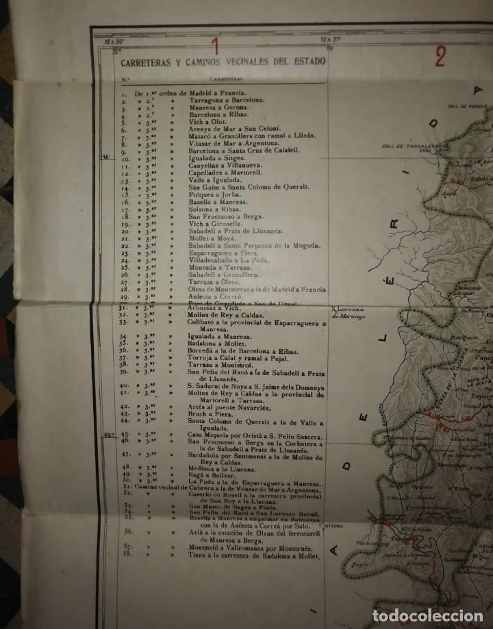 Mapas contemporáneos: MAPA PLANO PROVINCIA DE BARCELONA 68,7 X 82,5 REAL AUTOMÓVIL CLUB DE CATALUÑA OBRAS PÚBLICAS 82x68 - Foto 4 - 117828619