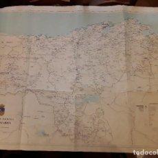 Mapas contemporáneos: MAPA CANTABRIA - DIPUTACIÓN REGIONAL DE CANTABRIA 1986 - MEDIDAS 145 X 98 CM.. Lote 118073231