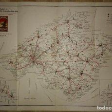 Mapas contemporáneos: MALLORCA, MENORCA, IBIZA MAPA PLANO DE LAS CARRETERAS Y CAMINOS DE MALLORCA. GASOLINA ÁGUILA. Lote 118163635