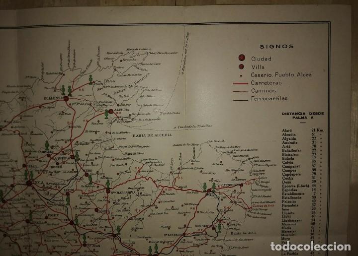 Mapas contemporáneos: Mallorca, Menorca, Ibiza Mapa Plano de las carreteras y caminos de Mallorca. Gasolina Águila - Foto 5 - 118163635