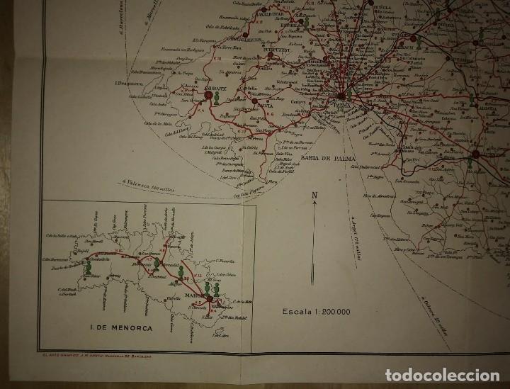 Mapas contemporáneos: Mallorca, Menorca, Ibiza Mapa Plano de las carreteras y caminos de Mallorca. Gasolina Águila - Foto 6 - 118163635