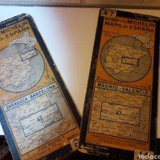 Mapas contemporáneos: 2 MAPAS ANTIGUOS DE MICHELÍN. Lote 118409359