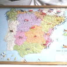 Mapas contemporáneos: ESPAÑA MAPA POLITICO RELIEVE EN 3D PLÁSTICO VINILO, EDIT NENUFAR AÑOS 70. MED. 70 X 50 X 6 CM. Lote 118412515