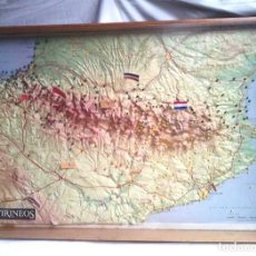 Mapas contemporáneos: PIRINEO MAPA RELIEVE EN 3D PLÁSTICO, CARTOGRAFIA MIGUEL ANGULO AÑOS 70. MED. 68 X 47 X 5 CM. Lote 118412535