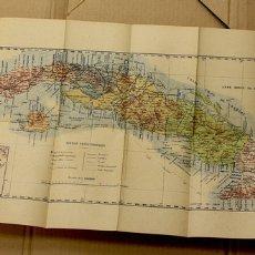 Mapas contemporáneos: MAPA DE LA ISLA DE CUBA. POR ANGEL ARBÉX. AÑO 1895. Lote 118521611