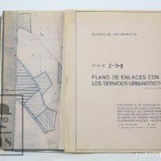 Mapas contemporáneos: PLANO ENLACES SERVICIOS URBANÍSTICOS DE PALMA DE MALLORCA / LLUCHMAYOR Y PLANO ZONIFICACIÓN AÑO 1963. Lote 118559231