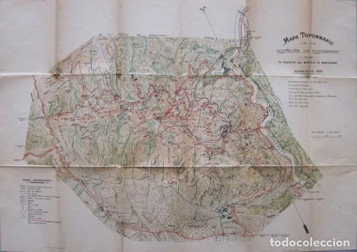 Mapa Topografico Montana Montserrat Segunda Ed Sold Through