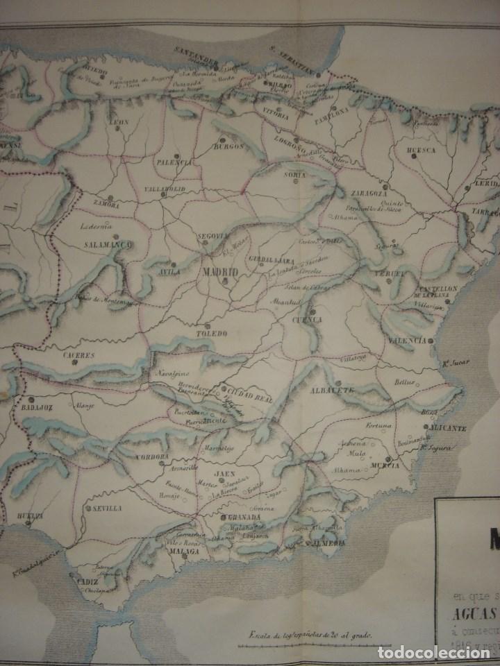 Mapa Balnearios De Espana Original 1852 Madrid Sold Through