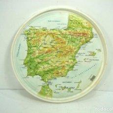 Mapas contemporáneos: ANTIGUA TAPA DIXAN - MAPA RELIEVE ESPAÑA PENINSULA AÑOS 70 - DETERGENTES TAMBOR DETERGENTE . Lote 118889831
