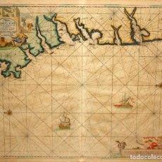 Mapas contemporáneos: JOHANNES VAN KEULEN (BÉLGICA,1654 - 1715) CARTA O GRABADO MARITIMO DE PORTUGAL Y CABO FINISTERRE. Lote 119067035