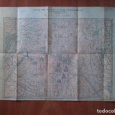 Mapas contemporáneos: 1899 ? GUÍA DE PARÍS Y SUS CERCANÍAS. Lote 119496299