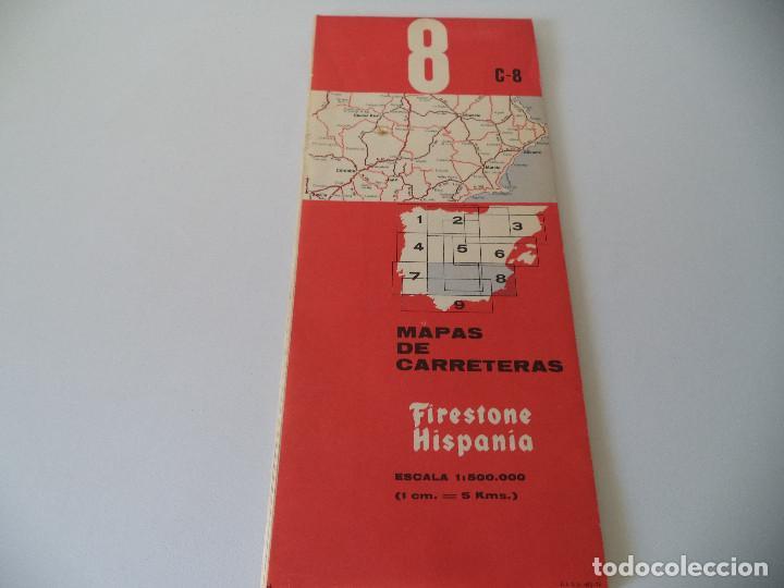 MAPA DE CARRETERAS FIRESTONE HISPANIA.C8 (Coleccionismo - Mapas - Mapas actuales (desde siglo XIX))