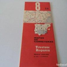 Mapas contemporáneos: MAPA DE CARRETERAS FIRESTONE HISPANIA.C8. Lote 119557543