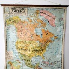 Mapas contemporáneos: ANTIGUO MAPA DE ESCUELA NORTE Y CENTRO AMÉRICA. Lote 119564991
