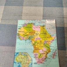 Mapas contemporáneos: MAPA ANTIGUO DE AFRICA 60X43 DE 1969. Lote 119855939