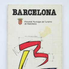Mapas contemporáneos: PLANO / CALLEJERO DE BARCELONA - PATRONAT MUNICIPAL DE TURISME/ IMPROTUR, 1987. Lote 120302491