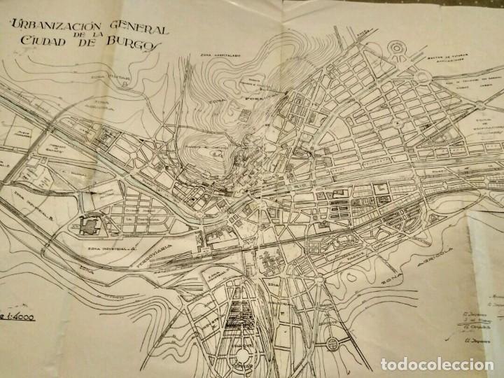 Mapa De Burgos Ciudad.Mapa Ciudad De Burgos Urbanizacion General De La Ciudad De Burgos 1944