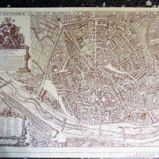 Mapas contemporáneos: LITOGRAFÌA ANTIGUA VALENTIA EDETANORUM DE TOMAS VICENTE TOSCA IMPRESO EN 1976.70X50CMS. Lote 121478831