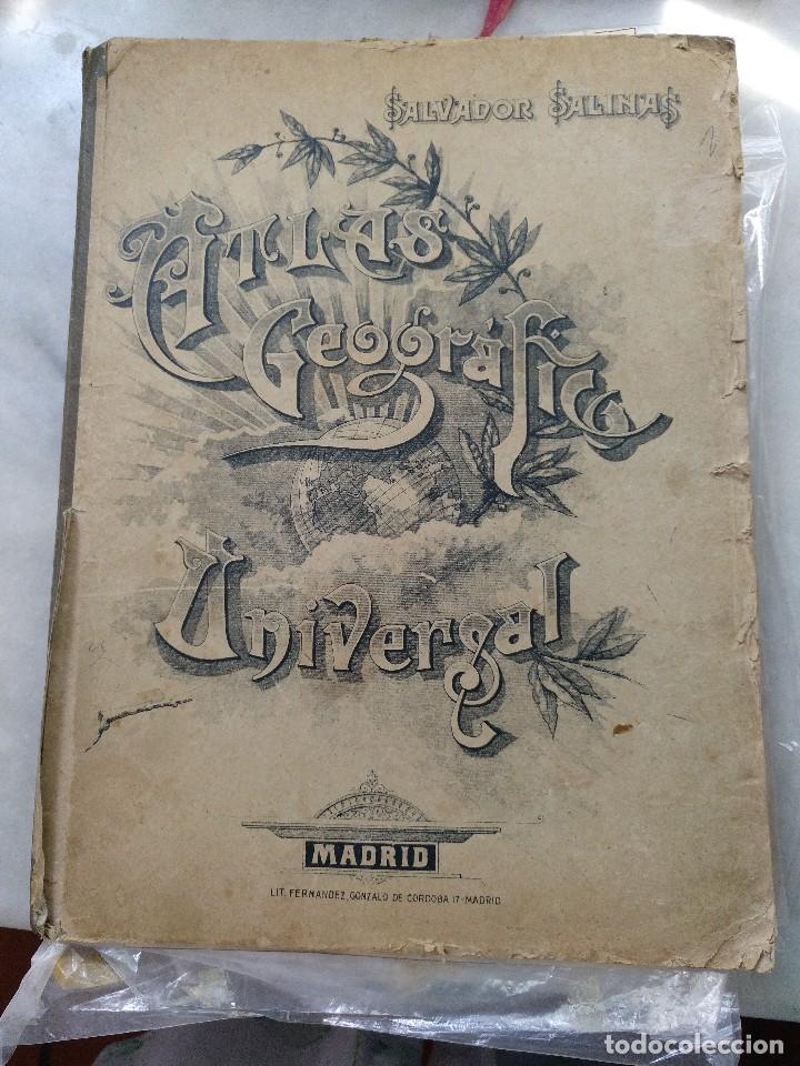 ATLAS GEOGRÁFICO UNIVERSAL. SALVADOR SALINAS. LÁMINAS DE MAPAS. AÑO 1944. LIT. EUSEBIO FERNÁNDEZ (Coleccionismo - Mapas - Mapas actuales (desde siglo XIX))