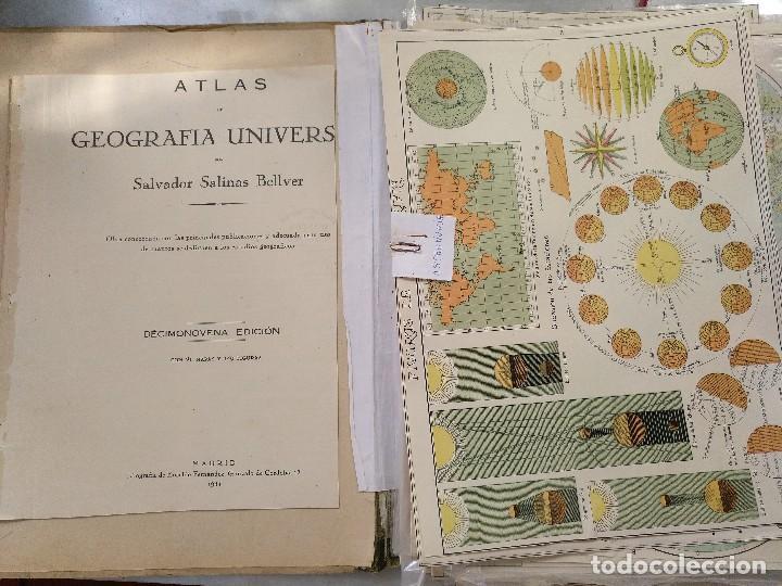 Mapas contemporáneos: ATLAS GEOGRÁFICO UNIVERSAL. SALVADOR SALINAS. LÁMINAS DE MAPAS. AÑO 1944. LIT. EUSEBIO FERNÁNDEZ - Foto 2 - 121859347