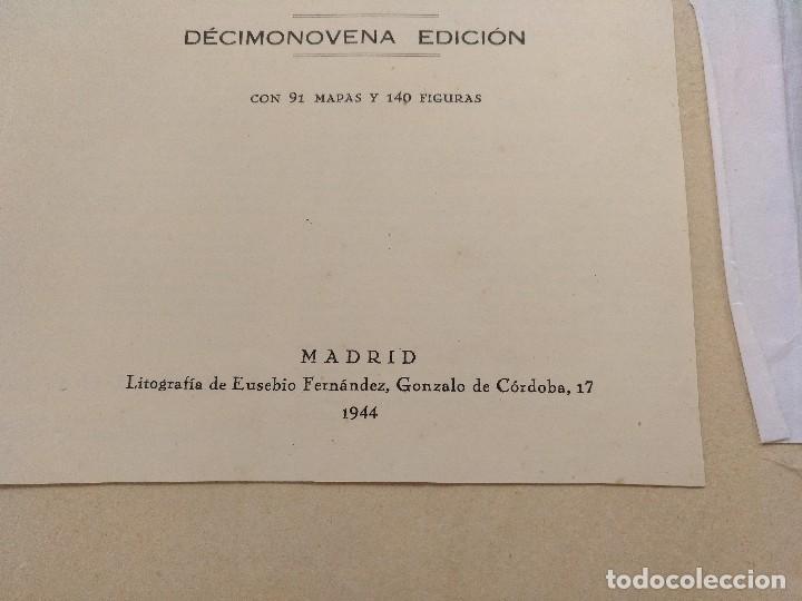 Mapas contemporáneos: ATLAS GEOGRÁFICO UNIVERSAL. SALVADOR SALINAS. LÁMINAS DE MAPAS. AÑO 1944. LIT. EUSEBIO FERNÁNDEZ - Foto 3 - 121859347
