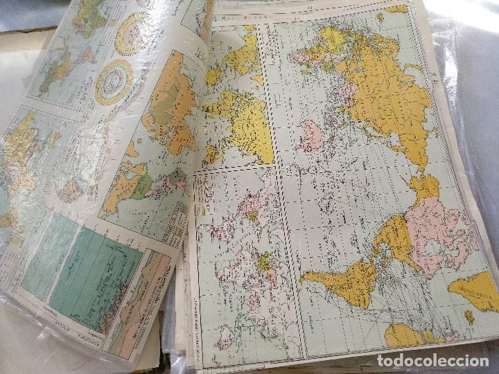 Mapas contemporáneos: ATLAS GEOGRÁFICO UNIVERSAL. SALVADOR SALINAS. LÁMINAS DE MAPAS. AÑO 1944. LIT. EUSEBIO FERNÁNDEZ - Foto 5 - 121859347