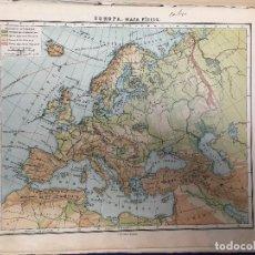 Mapas contemporáneos: ATLAS UNIVERSAL F VOLCKMAR EDICIÓN PEQUEÑA PARA EL REINO DE ESPAÑA 34 MAPAS 1946. Lote 123099911