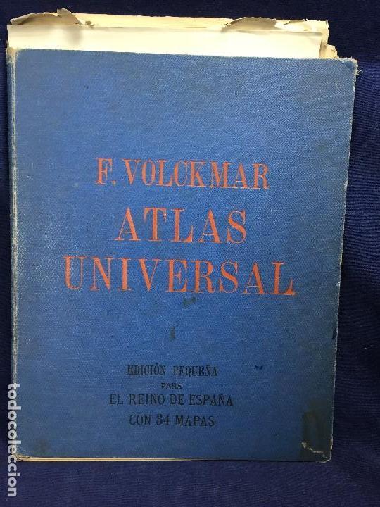 Mapas contemporáneos: atlas universal f volckmar edición pequeña para el reino de españa 34 mapas 1946 - Foto 3 - 123099911