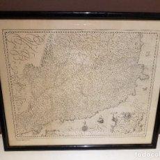 Mapas contemporáneos: MAPA DE CATALUÑA, DE MERCATOR, 2 CUADROS ENMARCADOS, TAL CUAL SE VEN.. Lote 123375767