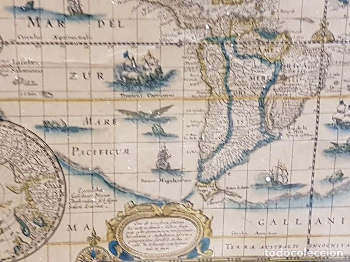 Mapas contemporáneos: ANTIGUA REPRODUCCION ENMARCADA ATLAS MUNDIAL BLAEW LIBRERIA WURTTMBERG AÑO 1645 - Foto 5 - 123378607