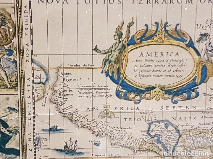 Mapas contemporáneos: ANTIGUA REPRODUCCION ENMARCADA ATLAS MUNDIAL BLAEW LIBRERIA WURTTMBERG AÑO 1645 - Foto 6 - 123378607