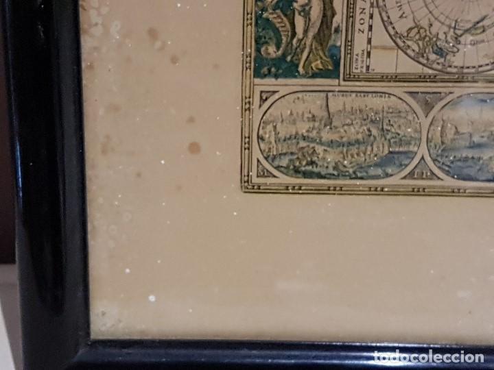 Mapas contemporáneos: ANTIGUA REPRODUCCION ENMARCADA ATLAS MUNDIAL BLAEW LIBRERIA WURTTMBERG AÑO 1645 - Foto 10 - 123378607