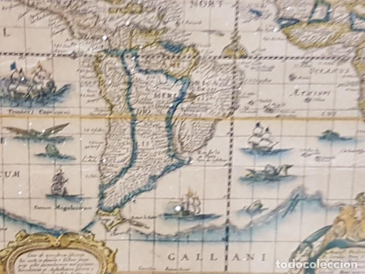 Mapas contemporáneos: ANTIGUA REPRODUCCION ENMARCADA ATLAS MUNDIAL BLAEW LIBRERIA WURTTMBERG AÑO 1645 - Foto 11 - 123378607