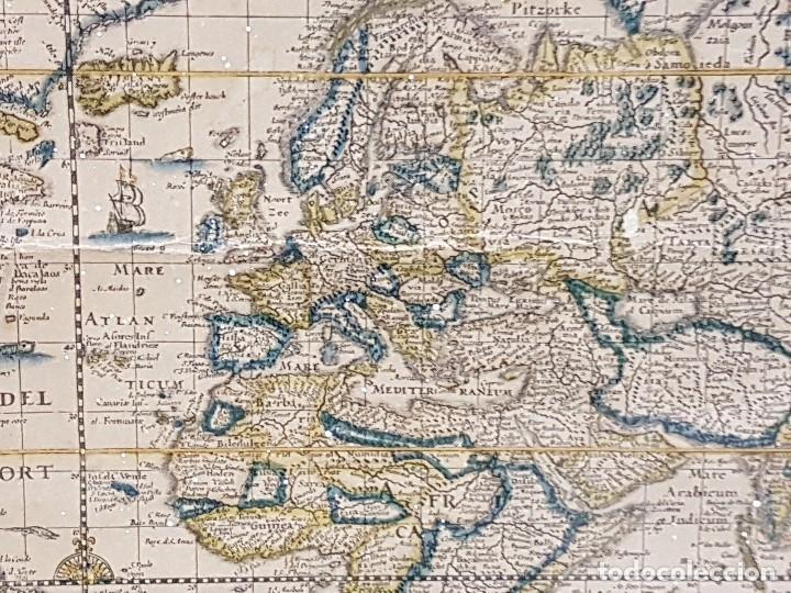 Mapas contemporáneos: ANTIGUA REPRODUCCION ENMARCADA ATLAS MUNDIAL BLAEW LIBRERIA WURTTMBERG AÑO 1645 - Foto 12 - 123378607